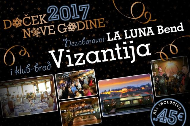 Splav Restoran Vizantija doček Nove godine